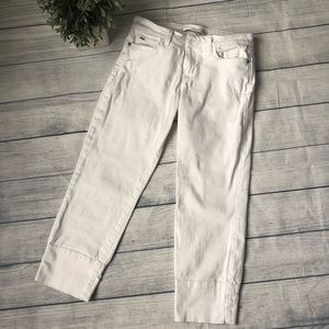 Joe's Jeans White Socialite Kicker Crop Jean